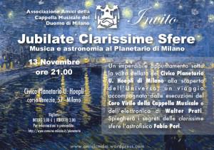 Invito Jubilate Clarissime Sfere